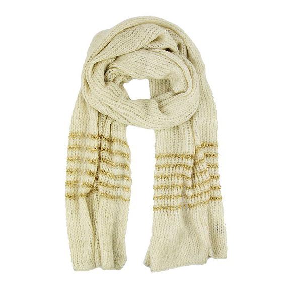 Hippe dames sjaal Creme Goud