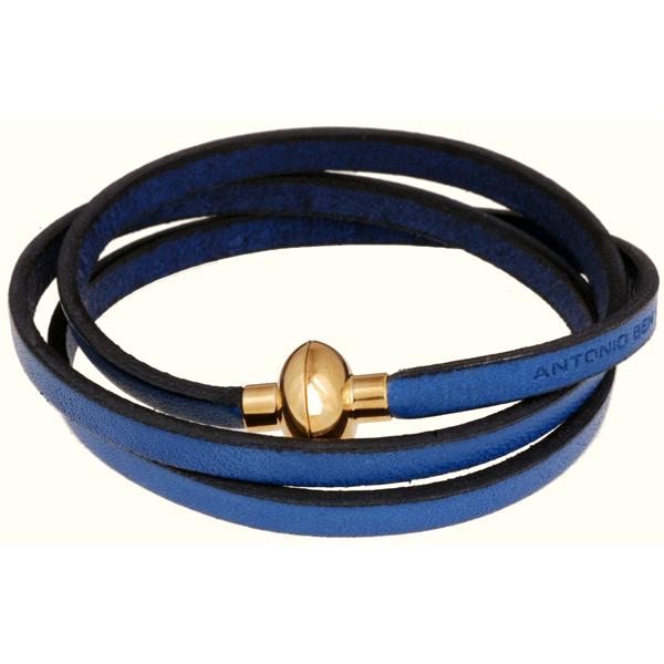 Antonio Ben Chimol armband Rainbow Blue/Gold