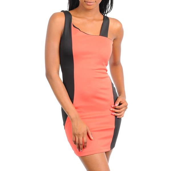 Asymetriche Panel dress Pink