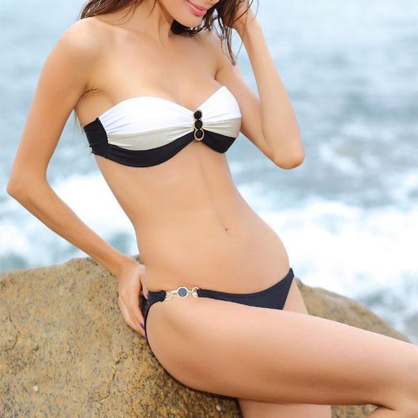 Bandeau Bikini Cannes Zwart