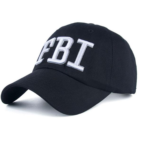 Baseball Cap FBI Black