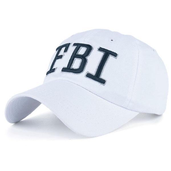 Baseball Cap FBI White