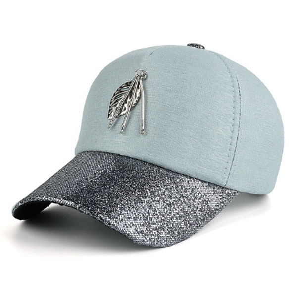 Baseball Cap Leaf Blauw