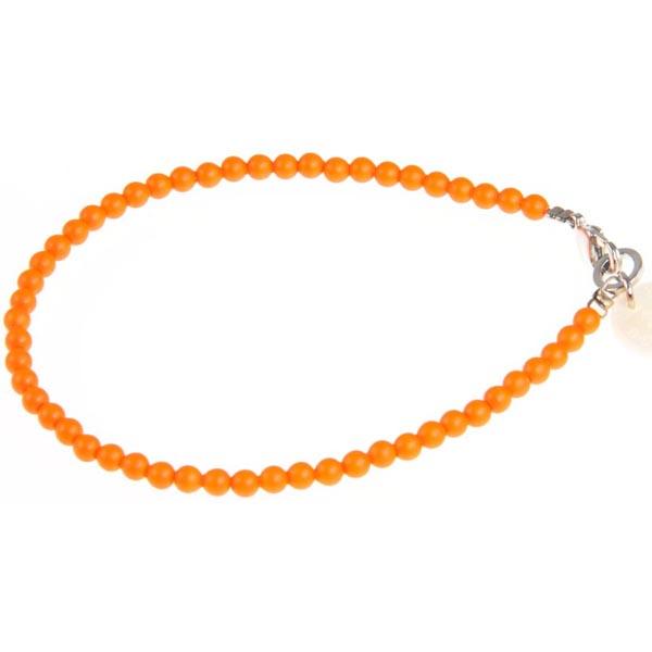 Blinckstar armband Swarovski Neon Orange parel