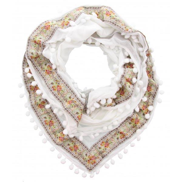 Boho Fashion Sjaal Wit