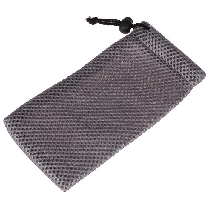 Brillenhoes waterdicht grijs inclusief doekje