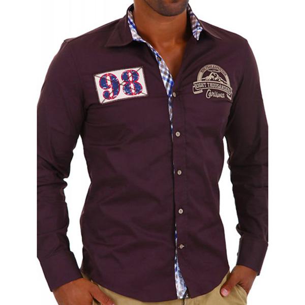 Carisma heren overhemd 98 Bruin