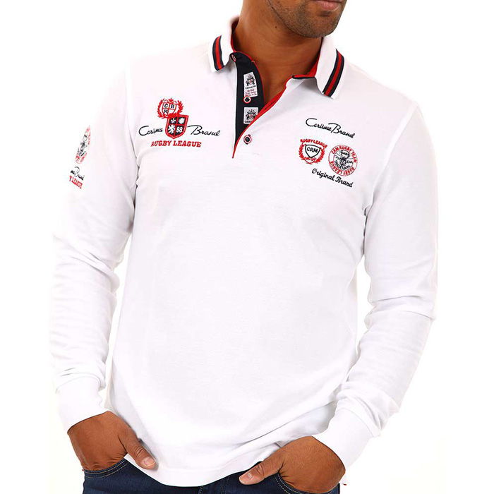 Carisma polo shirt long sleeved White