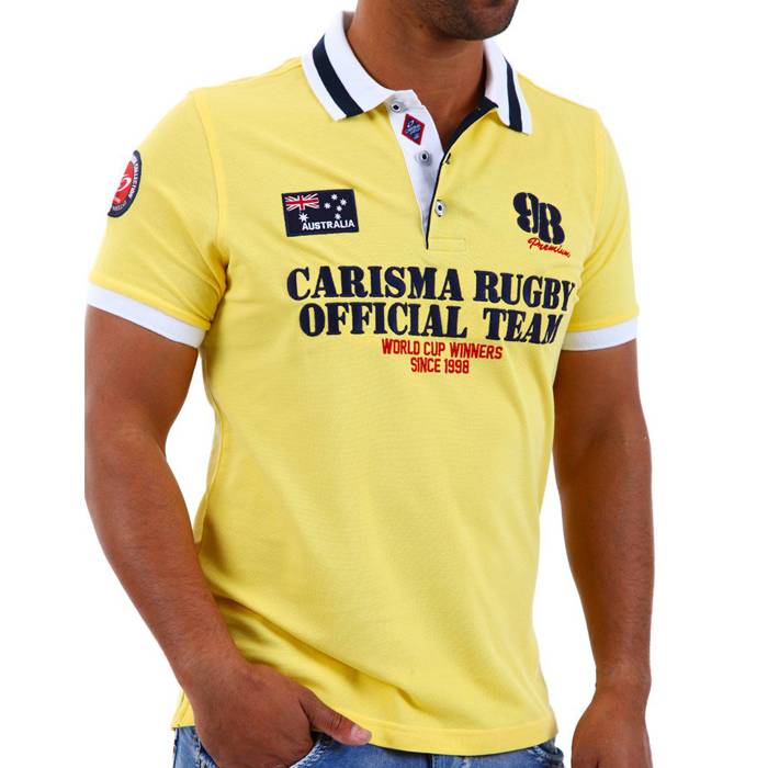 Carisma polo shirt short sleeve Yellow