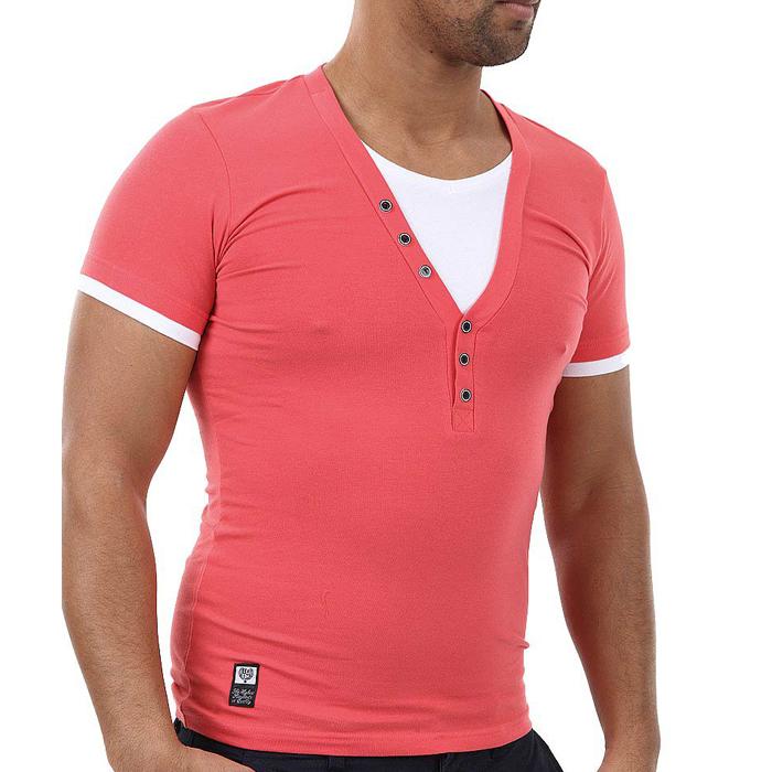 Carisma T-shirt V-hals Coral