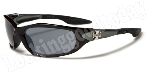 Choppers kinder zonnebril Biker Zwart Grijs 2-tone
