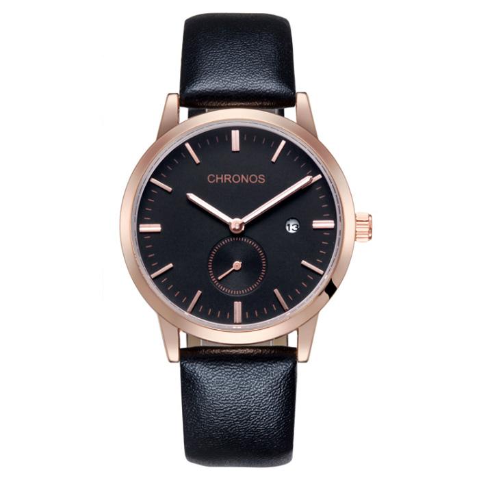 Chronos heren horloge Black Rose
