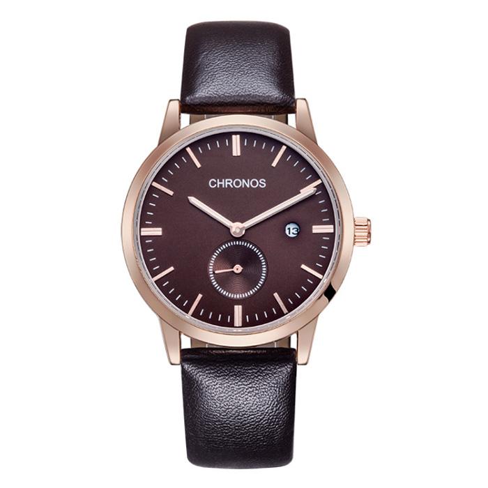 Chronos heren horloge Brown Rose
