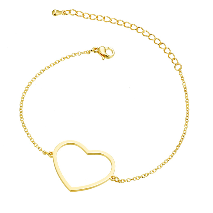 Cilla Jewels Dames Armband Hart Goud