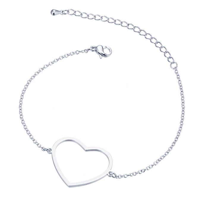 Cilla Jewels Dames Armband Hart Zilver