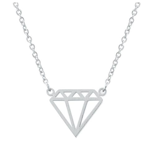 Cilla Jewels dames ketting Diamond verzilverd