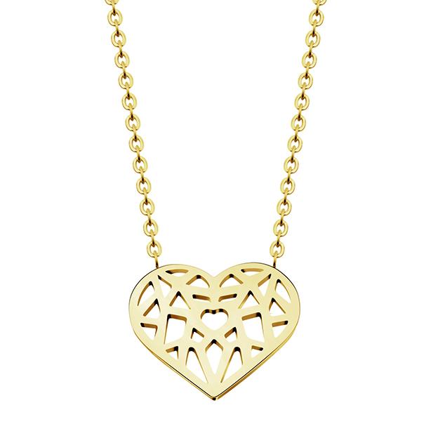 Cilla Jewels dames ketting Heart geelgoud Verguld