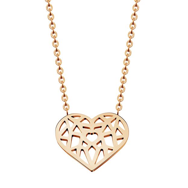 Cilla Jewels dames ketting Heart rosegoud Verguld