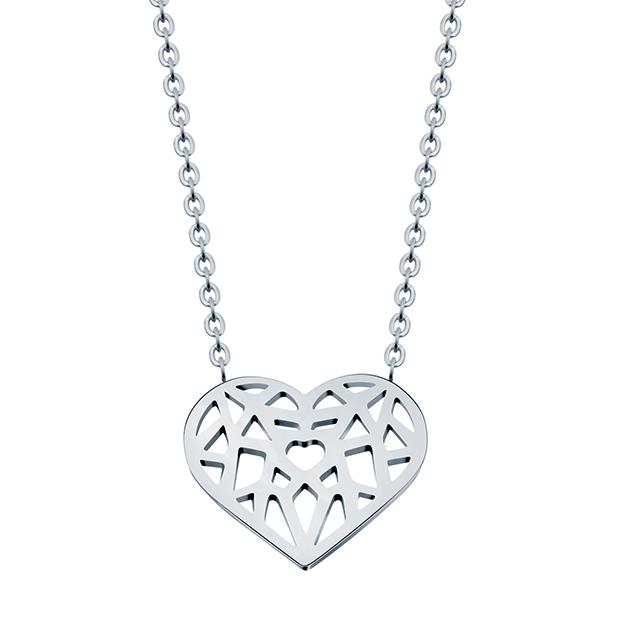 Cilla Jewels dames ketting Heart Verzilverd