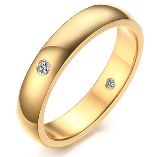 Cilla Jewels edelstaal ring Diamond Gold