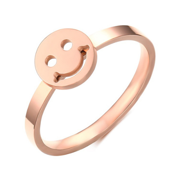 Cilla Jewels edelstaal ring Smiley Rose