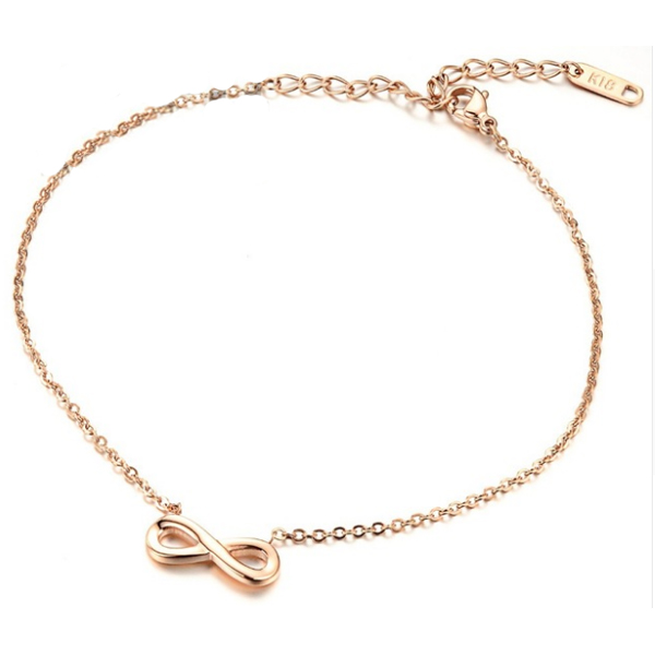 Cilla Jewels enkelband Infinity Rose Goud
