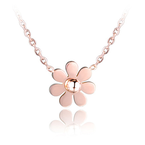 Cilla Jewels ketting Daisy Flower rosegoud Verguld
