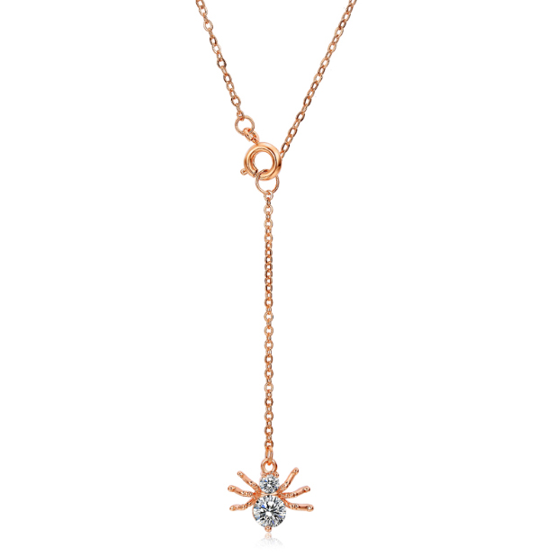 Cilla Jewels ketting Spider rosegoud Verguld