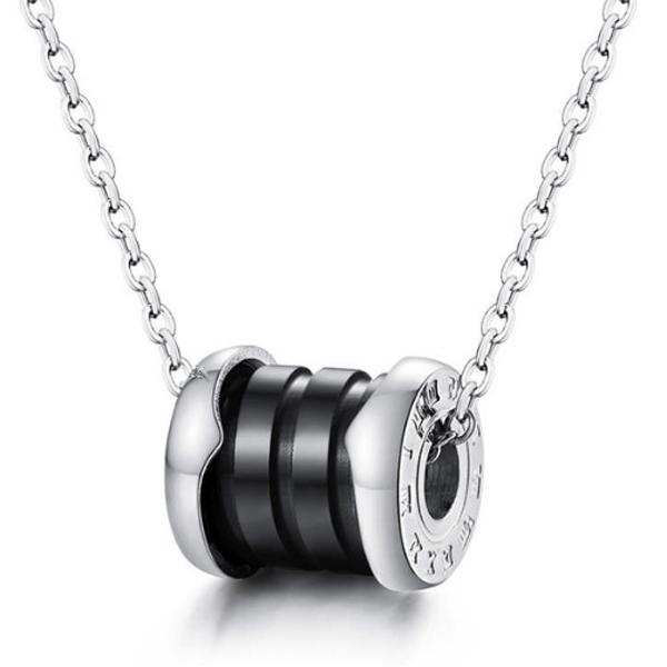 Cilla Jewels ketting Zilver Zwart Roman Pendant