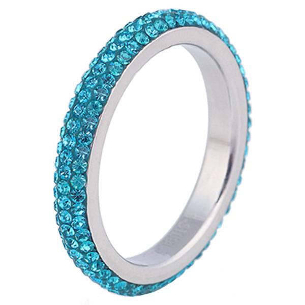 Cilla Jewels ring edelstaal Kristal Blauw