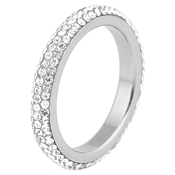 Cilla Jewels ring edelstaal Kristal Zilver