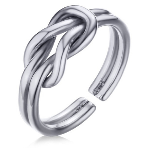 Cilla Jewels ring Infinity Knot Silver Matte