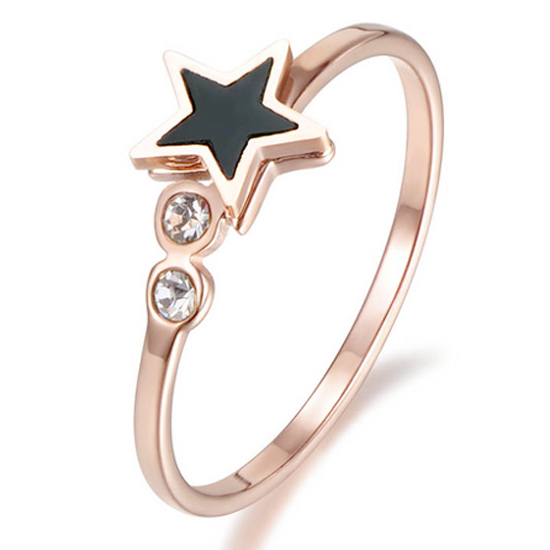 Cilla Jewels ring Verguld edelstaal Star Rose