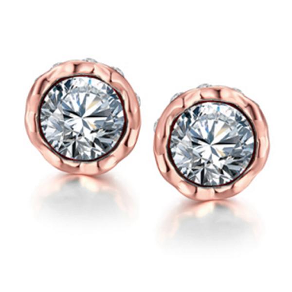 Cilla Jewels vergulde oorknoppen Silver Diamond