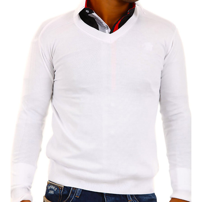 Cipo & Baxx heren Pullover Wit