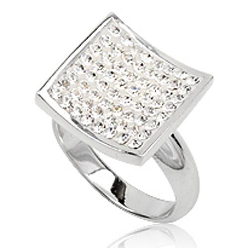 Cocktail ring 925 zilver Preciosa Crystal