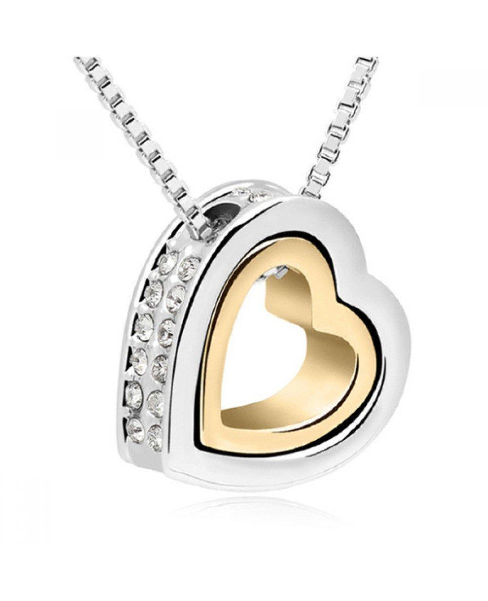 Uitgelezene Cilla Jewels kettinghanger hartje Zilver Goud WM-52
