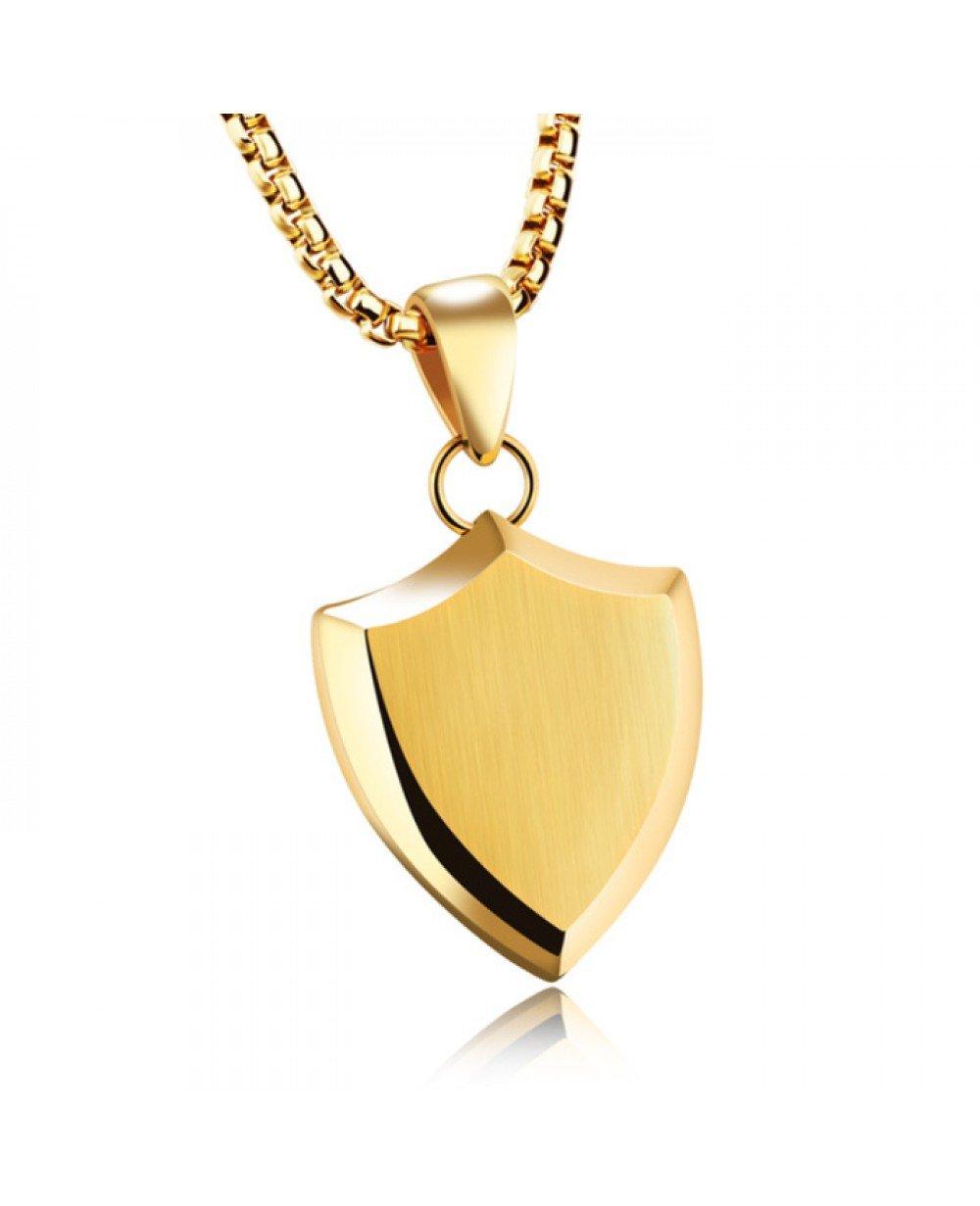 Wonderbaar Mendes heren ketting met hanger Gold Shield LG-44