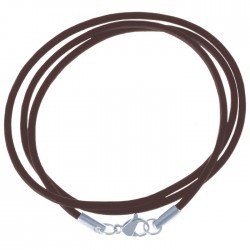 LGT Jewels leren koord ketting bruin 2mm