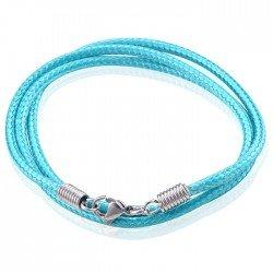 LGT Jewels waxkoord ketting Turquoise - 2.5mm