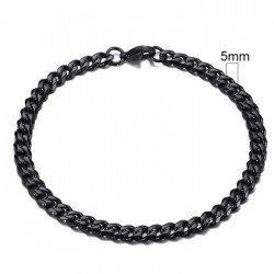 Stalen heren armband LGT JWLS Gourmet schakel Zwart 5mm