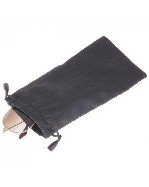 2x Brillenhoes zwart met print inclusief doekjes