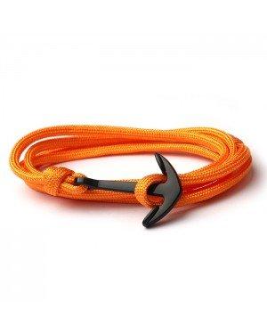 Anker armband Neon Oranje polyester koord
