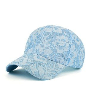 Baseball Cap Flower Blue