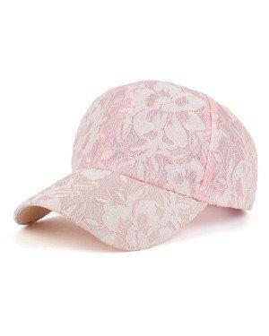 Baseball Cap Flower Pink