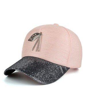 Baseball Cap Leaf Roze
