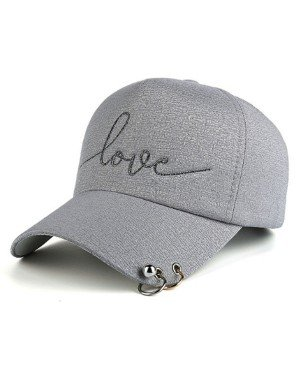 Baseball Cap Love Grey