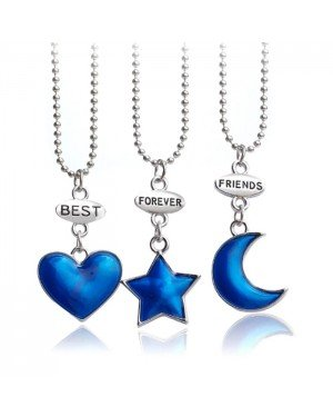 BFF Ketting LGT Jewels Best Friends Forever Moon Star Heart