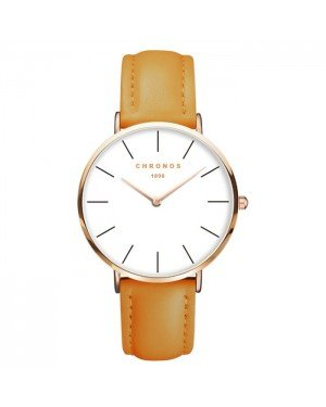 Chronos dames horloge Oker White Rose