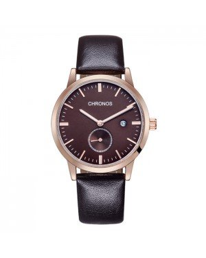 Chronos heren horloge Brown Rose